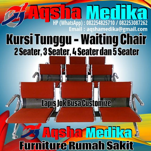 Jual Kursi Tunggu - Waiting Chair 1-2-3-4-5 Dudukan Lapis Jok Busa - Sandaran dan Tanpa Sandaran Harga Murah