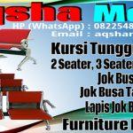 Kursi Tunggu 1-2-3-4-5 Seater - Dudukan plus Sandaran dan Tanpa Sandaran