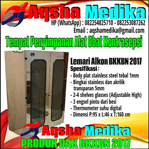 Lemari Kabinet Alokon-Alkon DAK BKKBN 2017 Stainless Steel