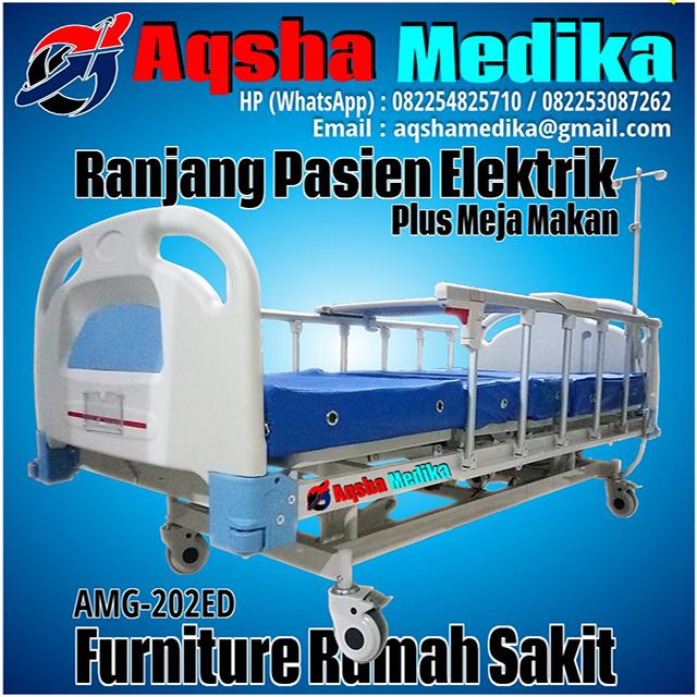 Ranjang Pasien Elektrik Plus Meja Makan AMG-202ED Aqsha Medika