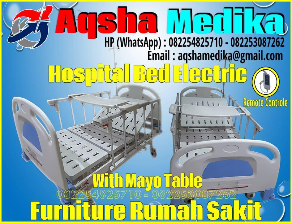 Ranjang Rumah Sakit Elektrik plus Meja Makan Pasien