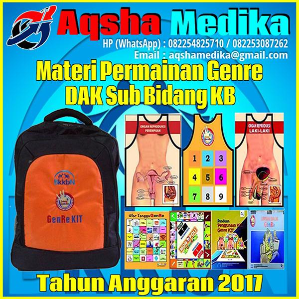 Jual Genre Kit BKKBN 2017 - DAK Sub Bidang KB Tahun Anggaran 2017-2018 Aqsha Medika