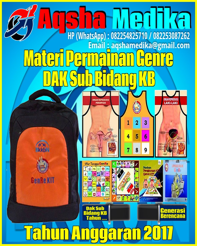 Jual Genre Kit BKKBN 2017 - DAK Sub Bidang KB Tahun Anggaran 2017-2018 Flashdisk Aqsha Medika