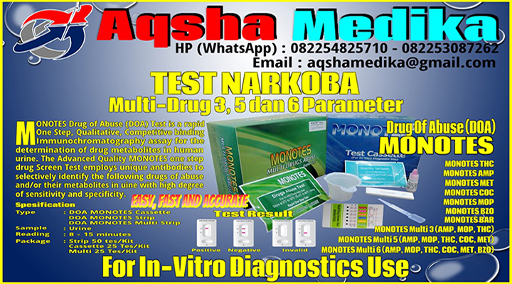 Jual Rapid Test Narkoba MONOTES DOA Multi-Parameter 1-3-5-6