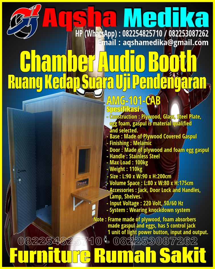 Soundproof Chamber for Audiometry Knockdown - Ruang Kedap Suara Uji Pendengaran