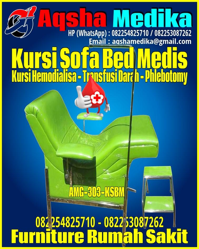 Kursi Sofa Bed Medis Universal - Kursi Transfusi Darah - Kursi Cuci Darah - Kursi Sampling Darah