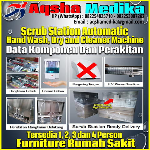 Instalasi Scrub Station 2 Person Automatic Type AMG-102-S2P Aqsha Medika 2018