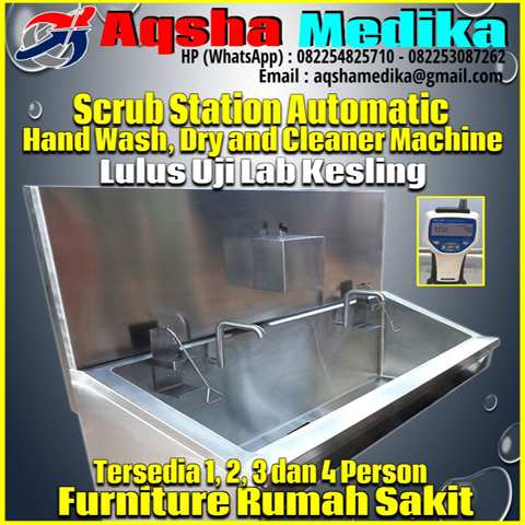Mesin Scrub Station Automatic Manual 2 Person AMG-102-S2P Aqsha Medika 2018