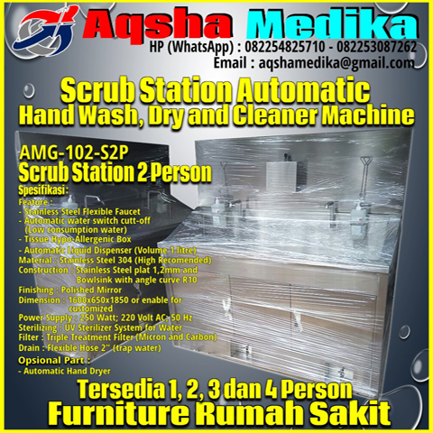 Scrub Station 2 Person AMG-102-S2P Aqsha Medika