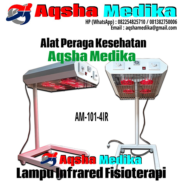 Fisioterapi Infrared 4 Lamp Standing Model - AM-101-4IR Aqsha Medika