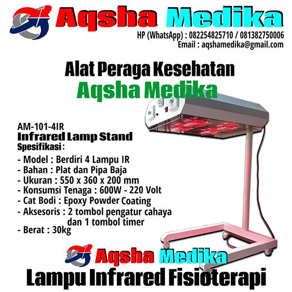Lampu Infrared Fisioterapi 4 Lampu Model Berdiri AM-101-4IR